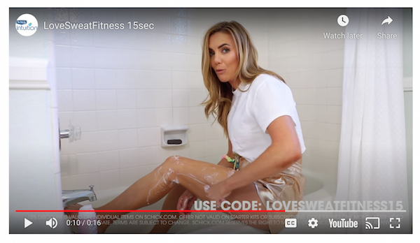 Examples of Paid Ads Integrated with Influencer Campaigns - Schick Influencer Campaign Video